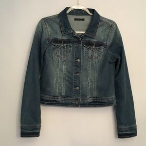 PrAna Distressed Dree  Denim Jean Jacket